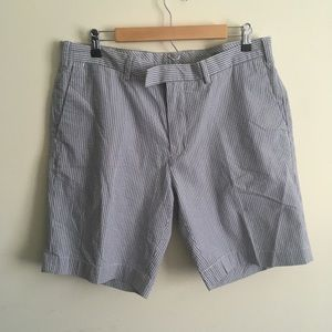 Polo Ralph Lauren | Blue Seersucker Cotton Shorts